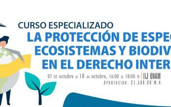 Curso especializado: la protección de especies, ecosistemas y biodiversidad en el derecho internacional
