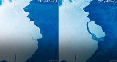 Un iceberg del tamaño de Gran Canaria se desprende en la Antártida