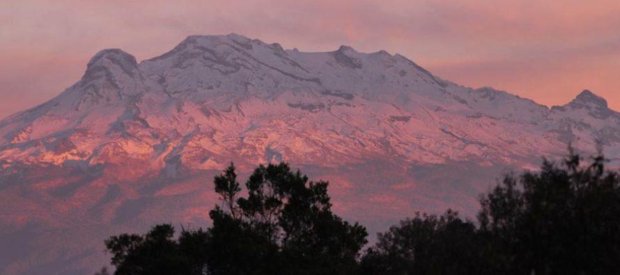 El volcán Iztaccíhuatl sigue dormido