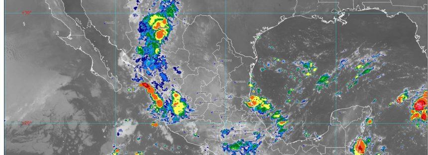 Hoy se prevén lluvias intensas en regiones de Chiapas y muy fuertes en áreas de Chihuahua, Puebla, Veracruz, Oaxaca y Tabasco