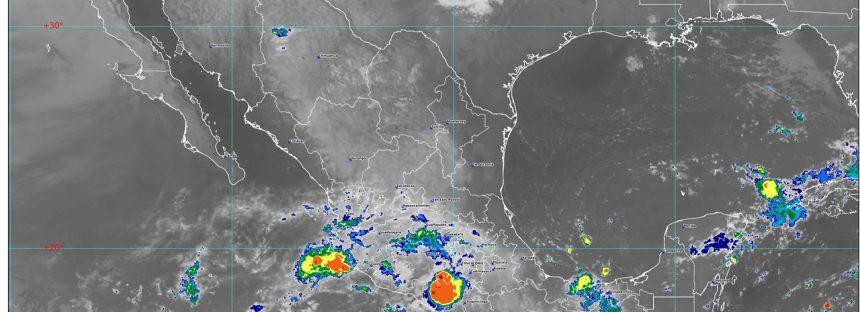 Se pronostican lluvias muy fuertes para zonas de Michoacán, Oaxaca y Chiapas