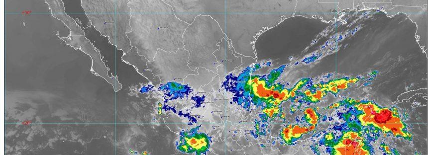 Hoy se pronostican lluvias torrenciales para Veracruz y Oaxaca