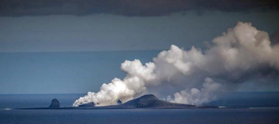 El volcán que creó megaburbujas submarinas del tamaño de un superpetrolero