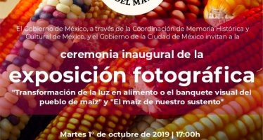 """Ceremonia inaugural de la exposición fotográfica """"Transformación de la luz en alimento o en paquete visual del pueblo de maíz"""" y """"El maíz de nuestro sustento"""""""