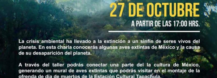 Charla- taller: Aves extintas de México