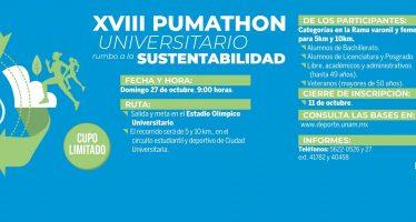 XVII Pumathon Universitario rumbo a la sustentabilidad