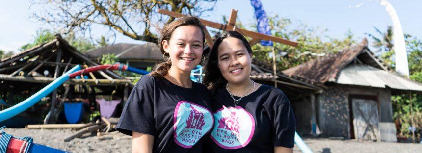 Las adolescentes que eliminaron las bolsas de plástico en Bali