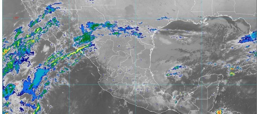 Lluvias intensas se prevén en Puebla, Veracruz, Oaxaca, Tabasco y Chiapas, durante las próximas horas
