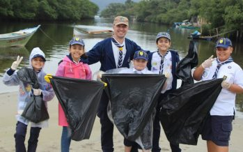 Scouts de América Latina y el Caribe se unen a los esfuerzos globales por Mares Limpios