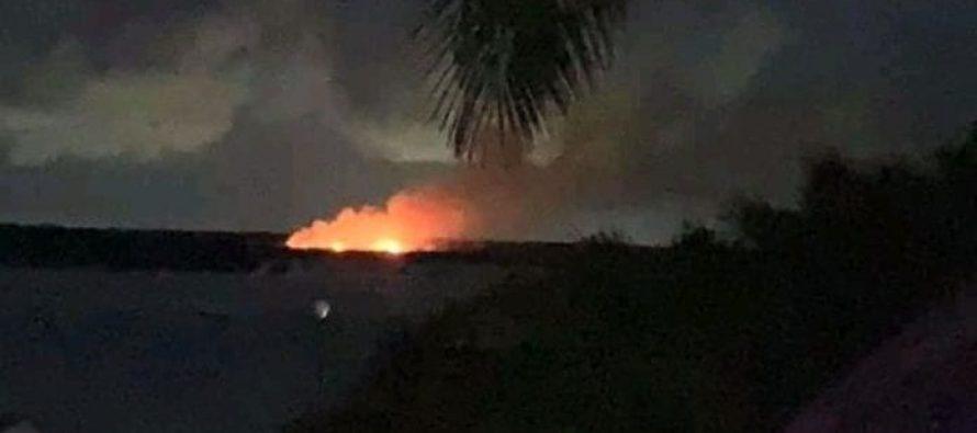 Se incendia la Isla de los Pájaros, en Bacalar