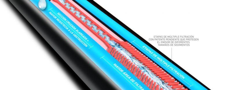 Toro, lanza al mercado Aqua-Traxx Azul, una cinta de riego que ofrece una mayor resistencia al taponamiento