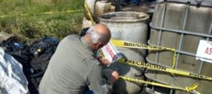 Aseguran más de 25 mil litros de residuos peligrosos en establecimiento de Morelia