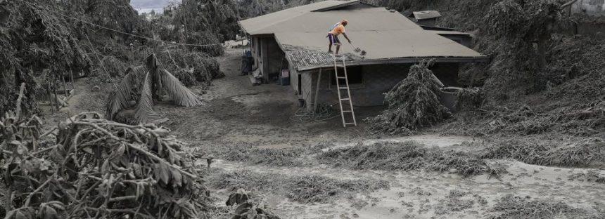 Las cenizas del volcán Taal
