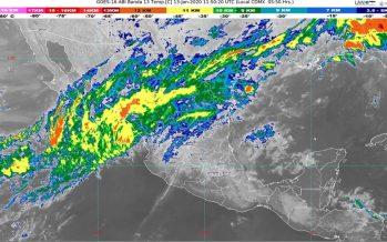 Hoy se prevén lluvias fuertes en Chiapas y rachas de viento de 60 km/h en el Istmo y el Golfo de Tehuantepec