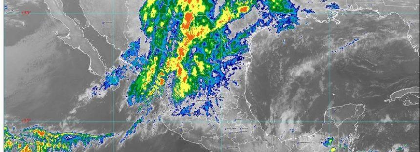 Lluvias fuertes, prevén en Coahuila, Chiapas, Oaxaca, Puebla y Veracruz