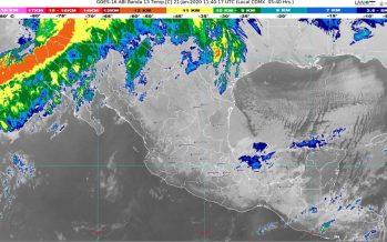 Hoy se prevén lluvias muy fuertes en Chiapas y fuertes en Oaxaca, Tabasco y Veracruz