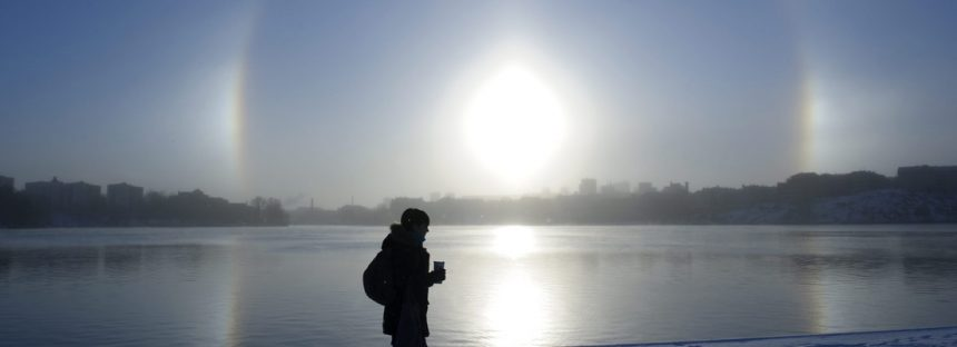 Tres 'soles' iluminan el cielo de una ciudad china en un espectacular fenómeno óptico