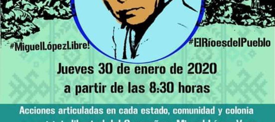 Campaña por la libertad del compañero Miguel López Vega y por la vida del río Metlapanapa