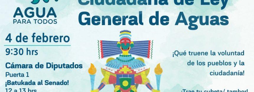 Gran presentación de la Iniciativa Ciudadana de Ley General de Aguas