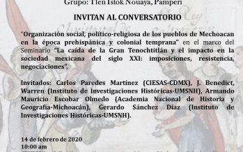 """Conversatorio """"Organización social, político-religiosa y colonial temprana"""""""