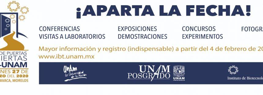 4° Día de puertas abiertas IBt-UNAM