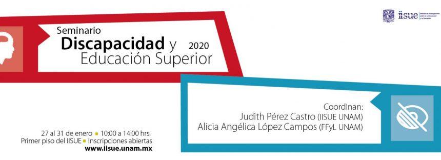 Seminario de discapacidad y educación superior 2020