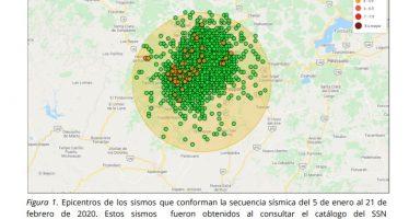 Persiste alta sismicidad en la región de Uruapan, Michoacán: van 3,271 sismos entre el 5 de enero y 21 de febrero