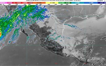 Norte y lluvia en Tamaulipas y Veracruz; lluvia intensa en regiones de Chiapas y Oaxaca