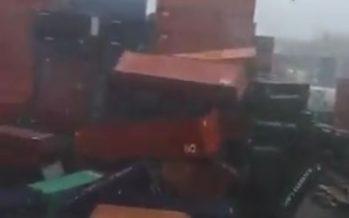 Se abate frío, lluvia y viento del norte de hasta 115 km/h en costas de Veracruz