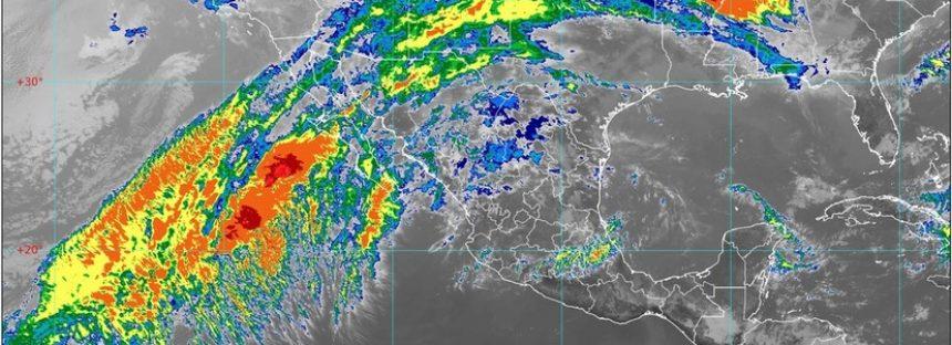 En la Península de Baja California y Sonora, lluvias fuertes; viento y oleaje en golfo y el Istmo de Tehuantepec