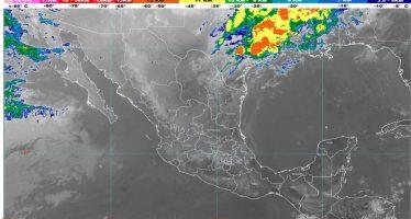 Nuevo León y Tamaulipas con lluvias, descargas eléctricas, granizo y posibles torbellinos; rachas de viento en el norte