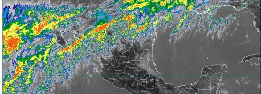 Día muy caluroso en la Península de Yucatán, occidente, centro, sur y sureste de México; viento y tolvanera en Chihuahua y Coahuila