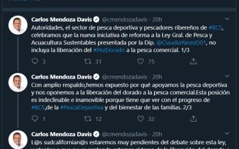 Retira diputada Claudia Yáñez propuesta para liberar pesca comercial de dorado (Coryphaena hippurus) en iniciativa de reforma a Ley General de Pesca