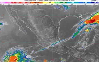 Lluvias fuertes, descargas eléctricas y granizo para Puebla, Tlaxcala y Veracruz; más 35 grados Celsius