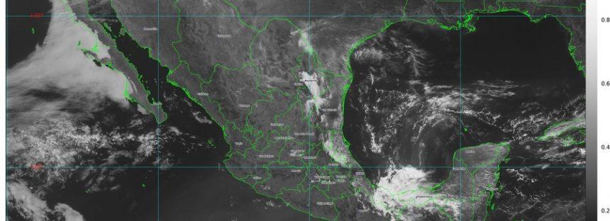 Sureste de México bajo agua, incluyendo parte de la Península de Yucatán; temperaturas de 40 °C en 9 estados