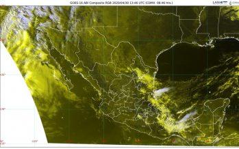 Intensas lluvias en el Valle de México, oriente, centro y sureste de México
