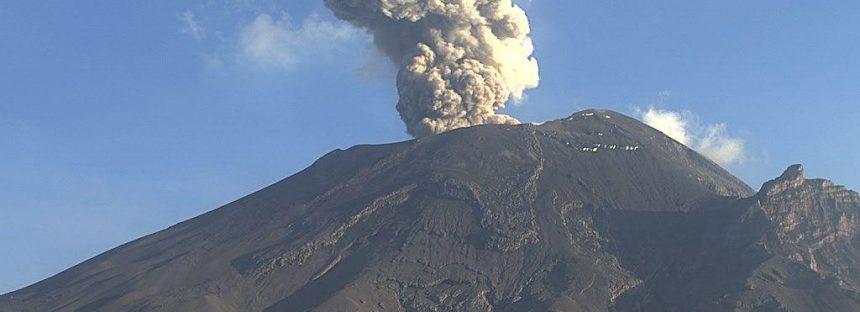 Se activa el volcán Popocatépetl: dos explosiones y 160 exhalaciones en las últimas 24 horas