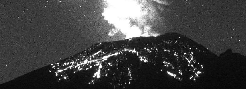 El volcán Popocatépetl permanece en Amarillo Fase 2; anoche nueva explosión