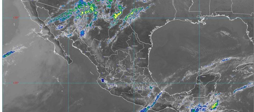 Lluvias intensas, actividad eléctrica y granizadas en Chiapas, Oaxaca, Tabasco y Veracruz
