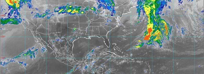 Lluvia y viento en el sureste mexicano; muy fuertes en Campeche y Tabasco