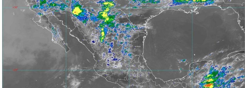 Lluvia en Coahuila, Nuevo León y Tamaulipas; entre 40 y 45 ° en BC, Guerrero, Jalisco, Michoacán, Nayarit y Sinaloa