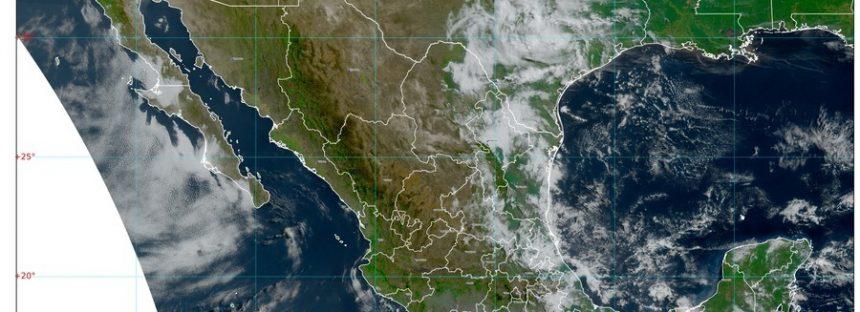 Lluvias fuertes en Chiapas, Oaxaca, Quintana Roo y Yucatán; viento en Durango, y torbellinos en estados del noreste