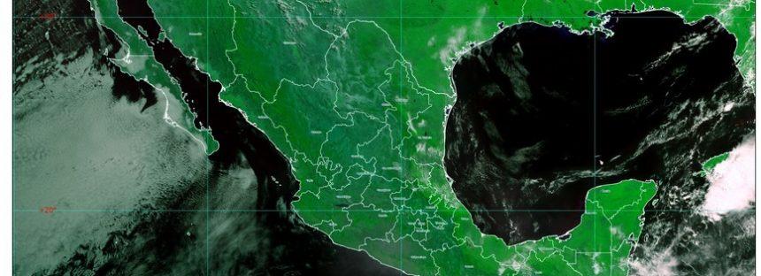 Rachas de viento de 70 km/h con tolvaneras en BC, BCS y Sonora; probables trombas marinas costas de Yucatán
