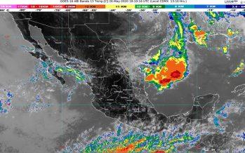 Lluvias y tolvaneras para Coahuila, Nuevo León, San Luis Potosí y Tamaulipas; temperaturas de 35 °C en casi en todo México