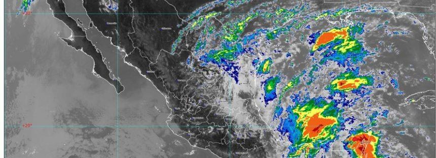 Lluvias torrenciales y granizadas en Chiapas y Oaxaca, por zona de baja presión con potencial ciclónico