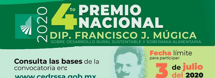 """Premio Nacional """"Dip. Francisco J. Múgica"""" sobre Desarrollo Rural Sustentable y Soberanía Alimentaria 2020"""