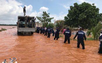 Por inundaciones de Cristobal, la Secretaría de Marina- Armada de México apoyó a población en Quintana Roo y Campeche