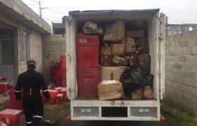 Retiran 3.2 toneladas de residuos peligrosos biológico – infecciosos de un predio en Xonacatepec, Puebla