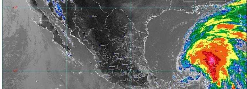 Persisten lluvias de intensas a torrenciales en zonas de Chiapas, Campeche, Oaxaca, Quintana Roo y Yucatán