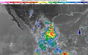 Centro, vertiente del Golfo de México y sureste, bajo lluvia
